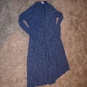 LuLaRoe heathered blue duster cardigan